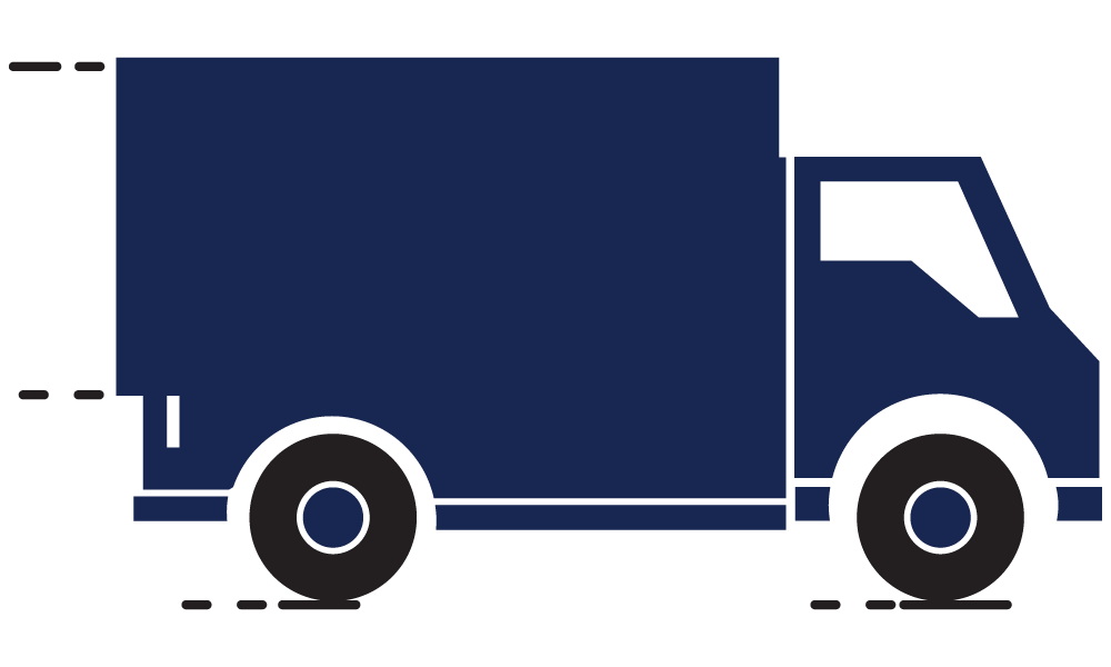 Truck delivering meat to distributors