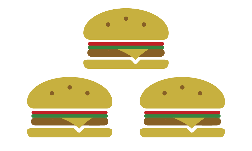 Burgers made from high-quality beef
